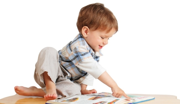 """""""Boy reading picture book"""""""