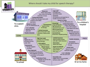 How to choose the best setting for speech therapy