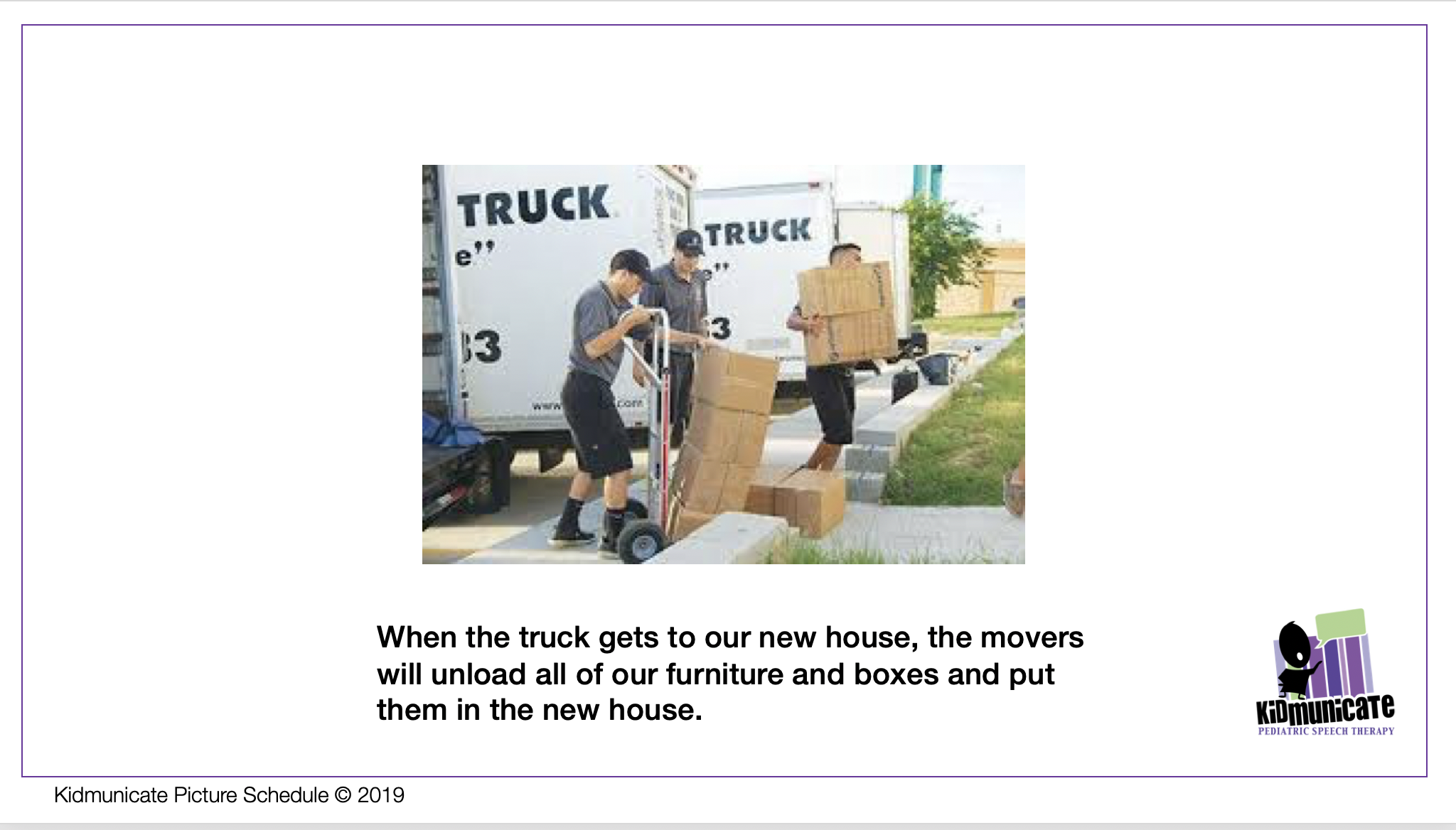 Autism social story about moving